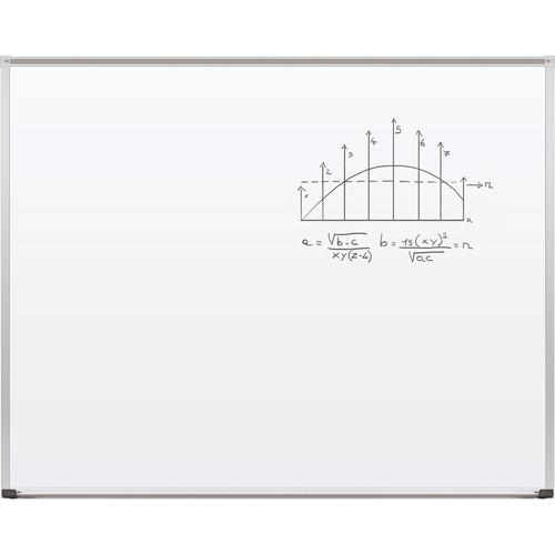 Best Rite TuF-Rite Whiteboard with ABC Aluminum Trim & Map Rail (4 x 5')