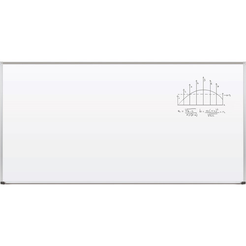 Best Rite TuF-Rite Whiteboard with ABC Aluminum Trim & Map Rail (4 x 8')