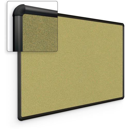 Best Rite Splash-Cork Tackboard with Black Presidential Trim (2 x 3', Green)