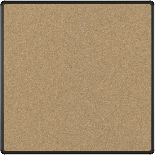 Best Rite Splash-Cork Tackboard with Black Presidential Trim (4 x 4', Black)