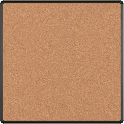 Best Rite Splash-Cork Tackboard with Black Presidential Trim (4 x 4', Red)