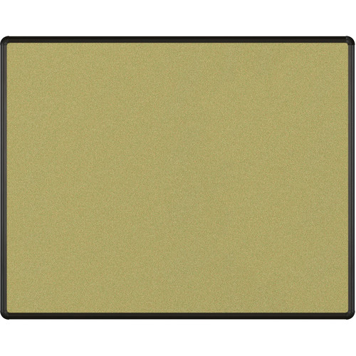 Best Rite Splash-Cork Tackboard with Black Presidential Trim (4 x 5', Green)