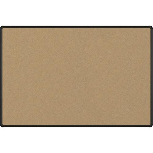 Best Rite Splash-Cork Tackboard with Black Presidential Trim (4 x 6', Black)