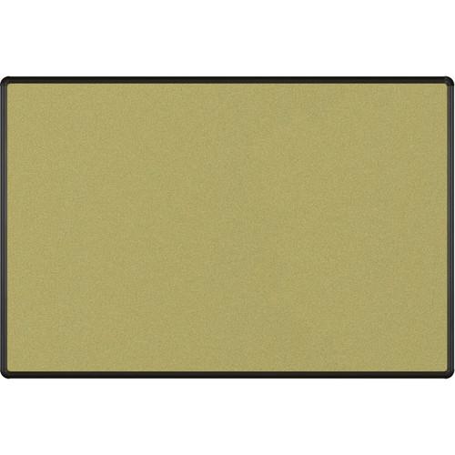 Best Rite Splash-Cork Tackboard with Black Presidential Trim (4 x 6', Green)