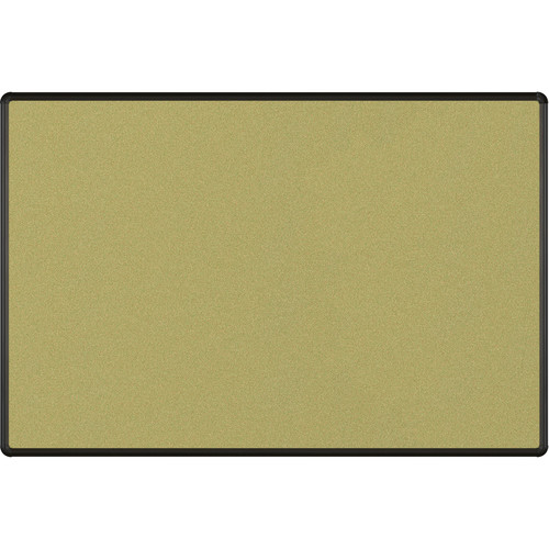 Best Rite Splash-Cork Tackboard with Black Presidential Trim (4 x 6', Green)