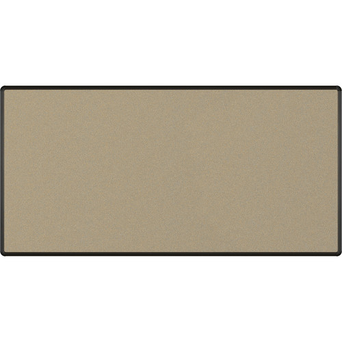Best Rite Splash-Cork Tackboard with Black Presidential Trim (4 x 8', Blue)