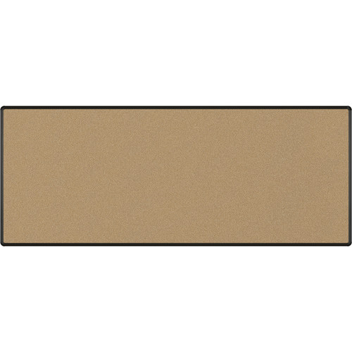 Best Rite Splash-Cork Tackboard with Black Presidential Trim (4 x 10', Black)