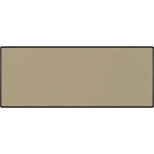 Best Rite Splash-Cork Tackboard with Black Presidential Trim (4 x 10', Blue)