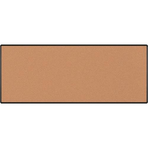 Best Rite Splash-Cork Tackboard with Black Presidential Trim (4 x 10', Red)