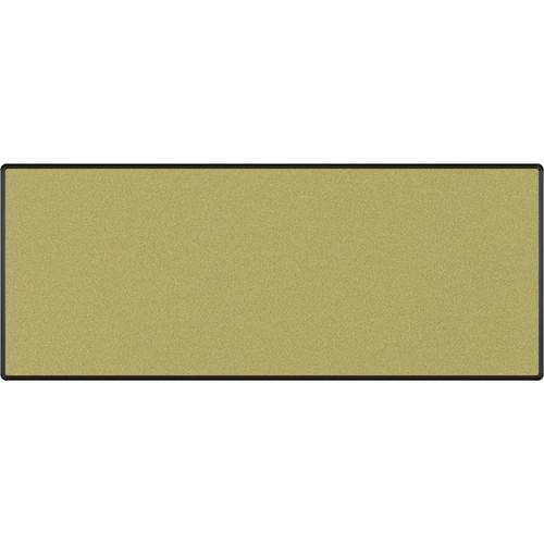 Best Rite Splash-Cork Tackboard with Black Presidential Trim (4 x 10', Green)