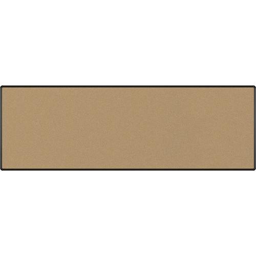 Best Rite Splash-Cork Tackboard with Black Presidential Trim (4 x 12', Black)