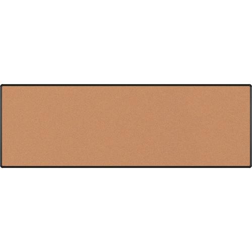 Best Rite Splash-Cork Tackboard with Black Presidential Trim (4 x 12', Red)