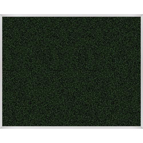 Best Rite Rubber-Tak 4 x 5' Tackboard with Aluminum Trim (Green)