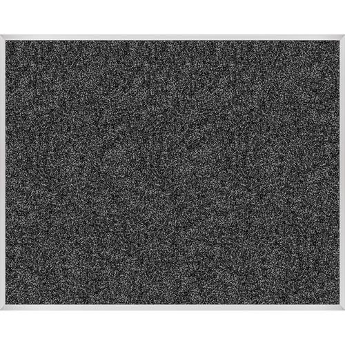 Best Rite Rubber-Tak Tackboard with Aluminum Trim (4x 5', Black)