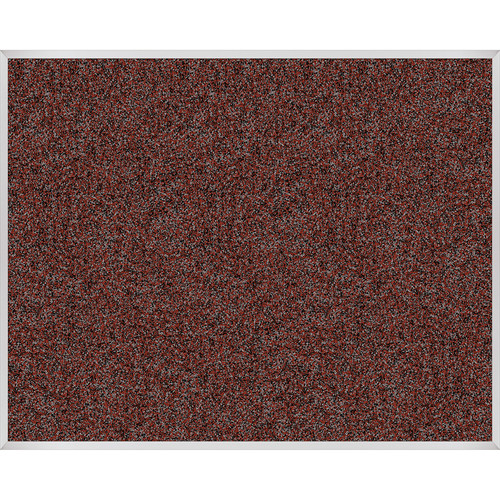 Best Rite Rubber-Tak Tackboard with Aluminum Trim (4x 5', Red)