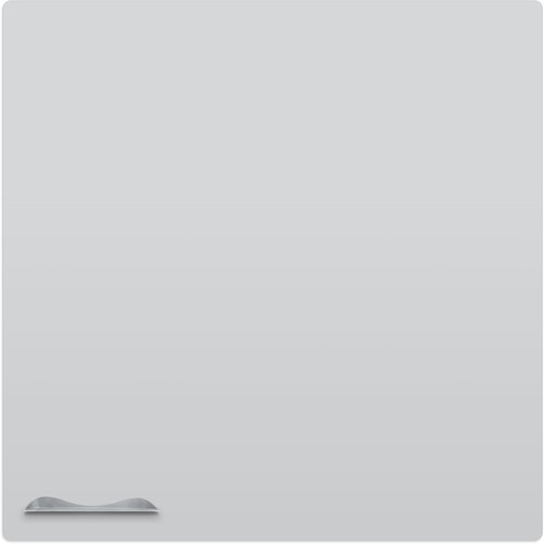 Best Rite Elemental Frameless Magnetic Whiteboard (4 x 4', Matte Gray)