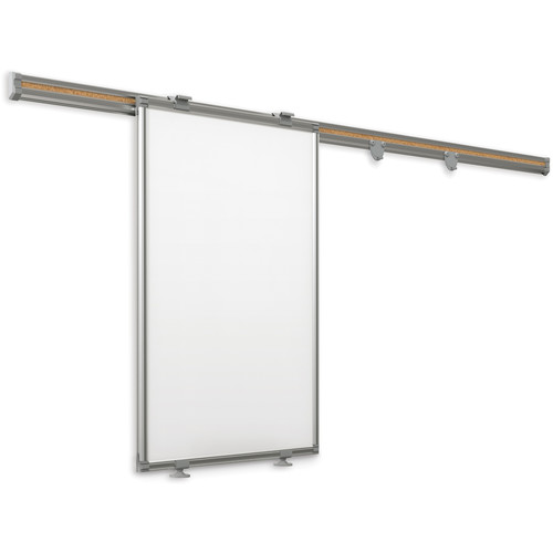 Best Rite 62850 6' Whiteboard Track System with Sliding Panel