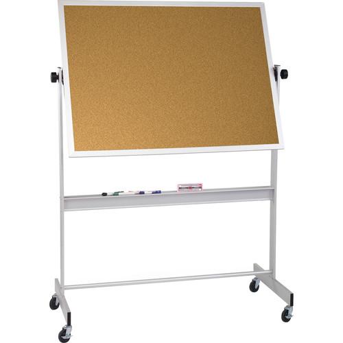 Best Rite Deluxe Mobile Reversible Board (Natural Cork / Natural Cork, 4 x 5')
