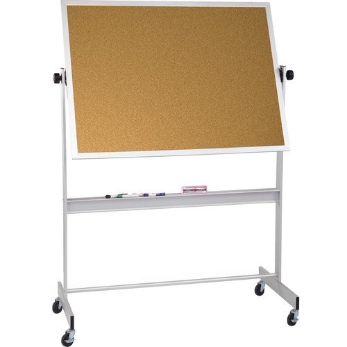 Best Rite Deluxe Mobile Reversible Board (Natural Cork / Natural Cork, 4 x 6')