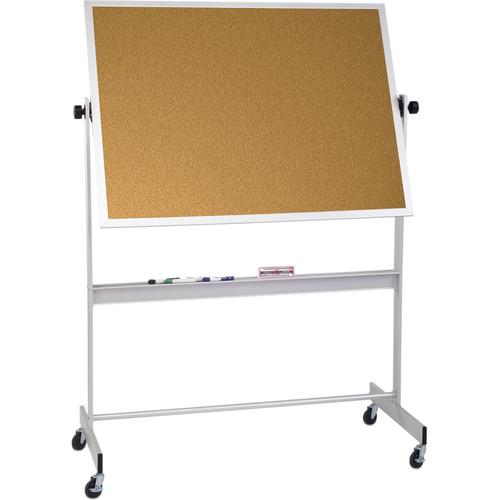 Best Rite Deluxe Mobile Reversible Board (Porcelain Steel / Natural Cork, 4 x 6')
