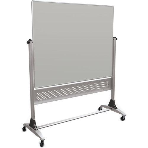 Best Rite Platinum Mobile Reversible Markerboard (4 x 5', Projection Gray / Natural Cork)