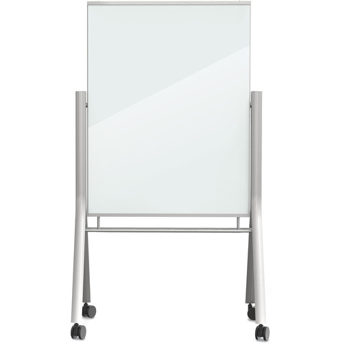 Best Rite Visionary Curve Mobile Magnetic Glass Whiteboard (3 x 4')