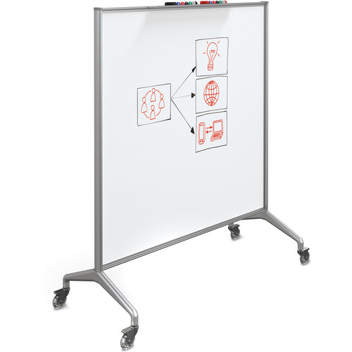 Best Rite Glider Mobile Whiteboard (Magnetic Porcelain Steel, Large)