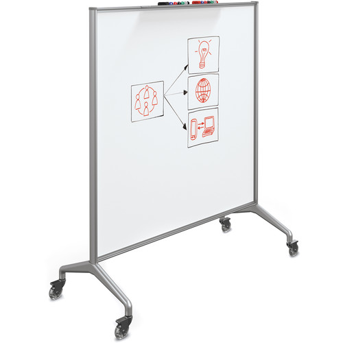Best Rite Glider Mobile Whiteboard (Magnetic Painted Steel, Large)
