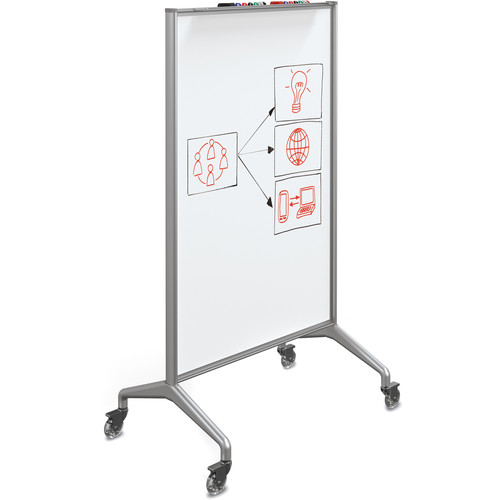 Best Rite Glider Mobile Whiteboard (Magnetic Porcelain Steel, Small)