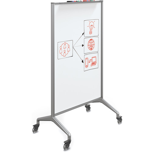 Best Rite Glider Mobile Whiteboard (Magnetic Painted Steel, Small)