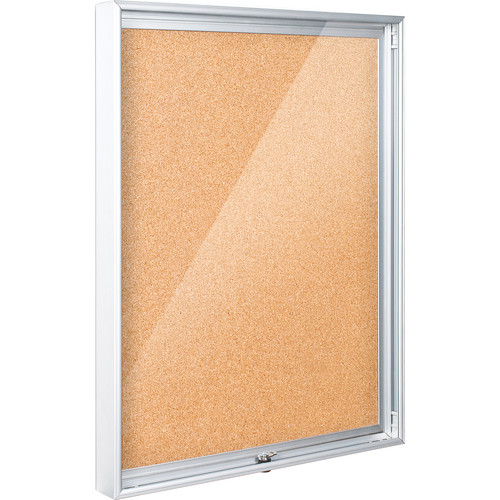 Best Rite 94CAA-01 Economy Enclosed Bulletin Board Cabinet (Natural Cork)