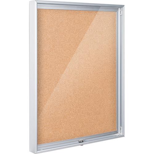 "Best Rite 94CAB-01 Economy Enclosed Bulletin Board Cabinet (24 x 36"", Natural Cork)"