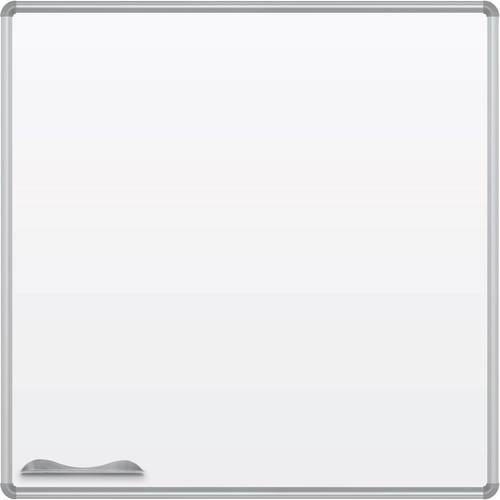 Best Rite Green-Rite Porcelain Markerboard with Silver Presidential Trim (4 x 4')