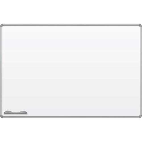 Best Rite Green-Rite Porcelain Markerboard with Silver Presidential Trim (4 x 6')