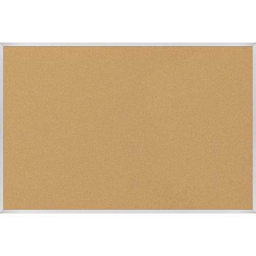 Best Rite VT Logic Natural Cork Surface Tackboard with Aluminum Trim (4 x 6')