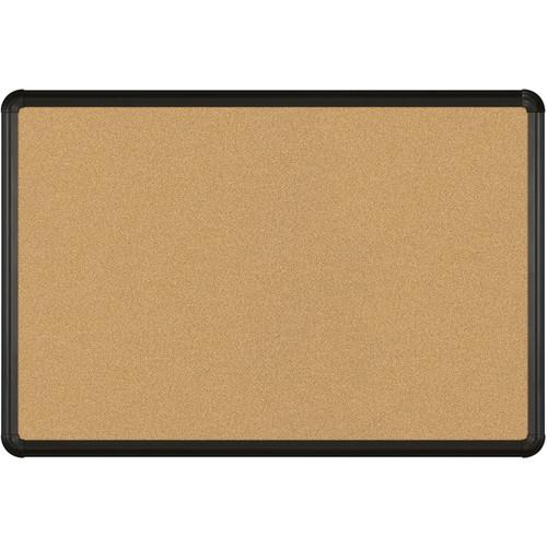Best Rite VT Logic Natural Cork Surface Tackboard with Black Presidential Trim (2 x 3')