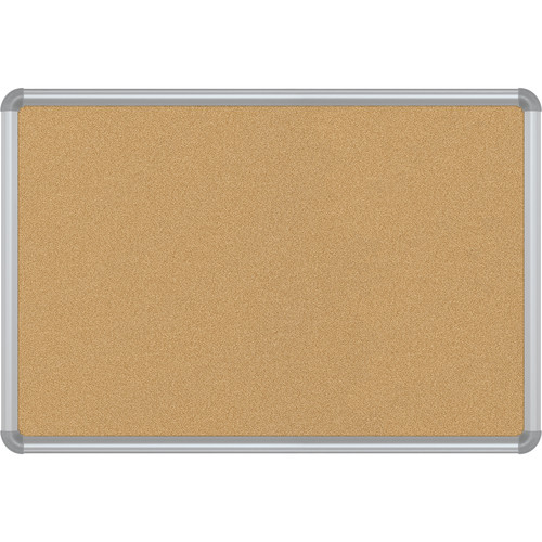 Best Rite VT Logic Natural Cork Surface Tackboard with Silver Presidential Trim (2 x 3')