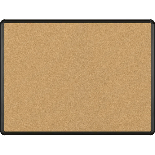 Best Rite VT Logic Natural Cork Surface Tackboard with Black Presidential Trim (3 x 4')