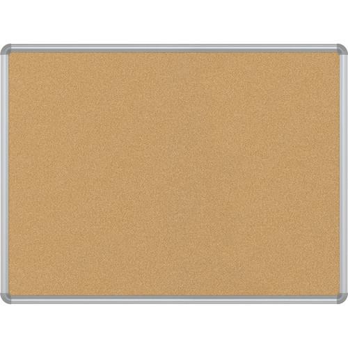 Best Rite VT Logic Natural Cork Surface Tackboard with Silver Presidential Trim (3 x 4')