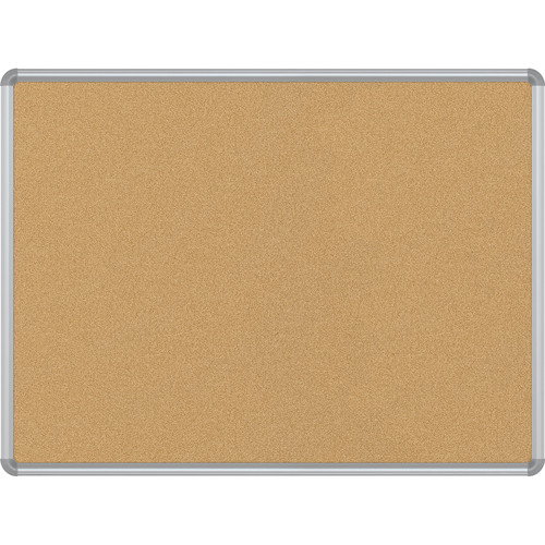 Best Rite VT Logic Natural Cork Surface Tackboard with Silver Presidential Trim (3 x 4')