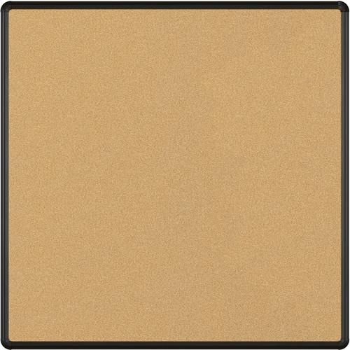 Best Rite VT Logic Natural Cork Surface Tackboard with Black Presidential Trim (4 x 4')