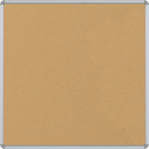 Best Rite VT Logic Natural Cork Surface Tackboard with Silver Presidential Trim (4 x 4')