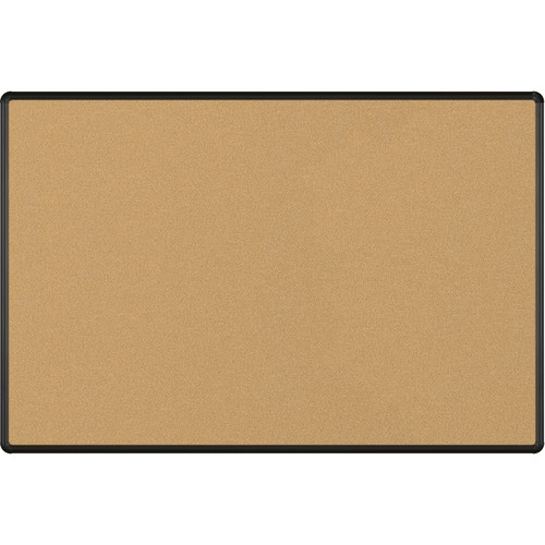 Best Rite VT Logic Natural Cork Surface Tackboard with Black Presidential Trim (4 x 6')