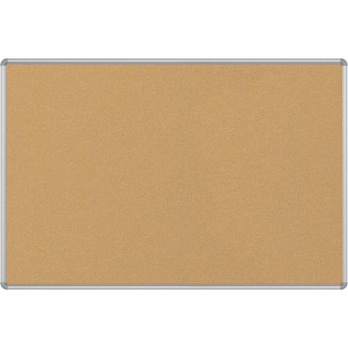 Best Rite VT Logic Natural Cork Surface Tackboard with Silver Presidential Trim (4 x 6')