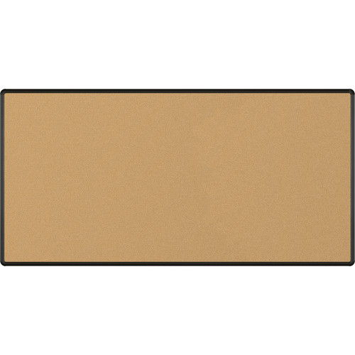 Best Rite VT Logic Natural Cork Surface Tackboard with Black Presidential Trim (4 x 8')