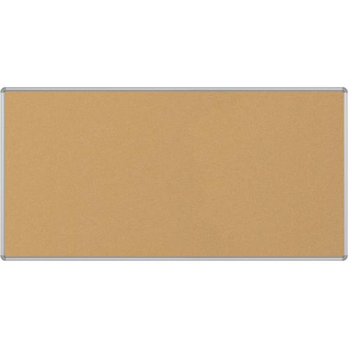 Best Rite VT Logic Natural Cork Surface Tackboard with Silver Presidential Trim (4 x 8')