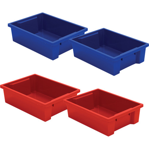 Best Rite Plastic Tub for Mobile Tub Storage Cart (4-Pack)