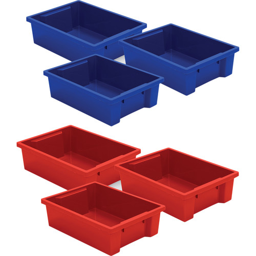 Best Rite Plastic Tub for Mobile Tub Storage Cart (6-Pack)