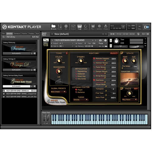 Best Service Galaxy II German Baby Grand Piano - Virtual Instrument (Download)