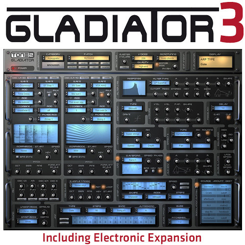 TONE2 Tone2 Gladiator 3 Expanded - Virtual Instrument (Download)
